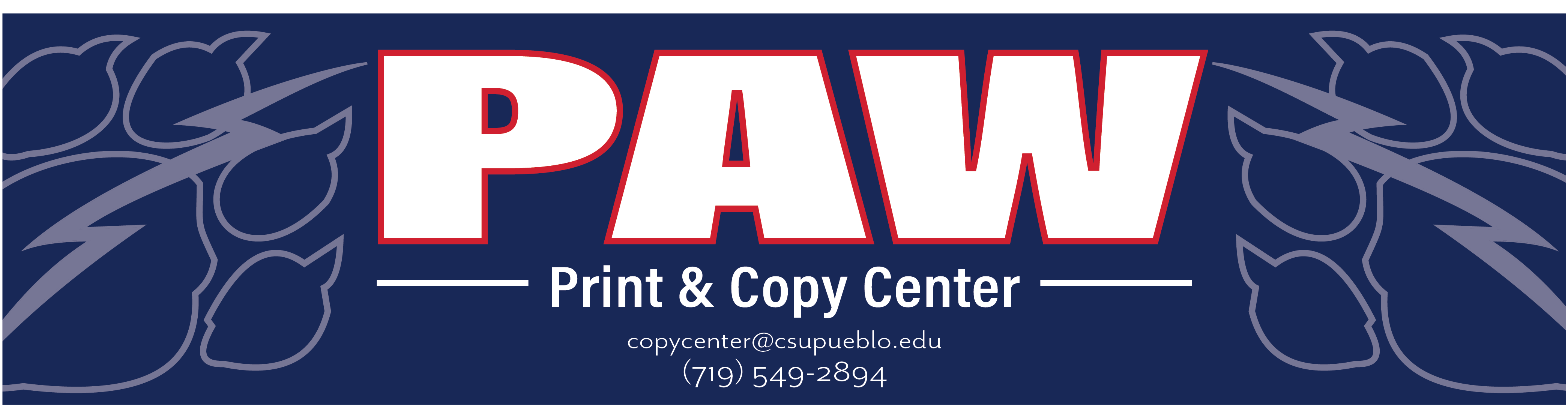 Paw print and copy center